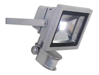 Eurolux Led Floodlight 20W With Sensor and Remote Grey