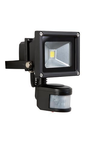 Eurolux LED 10W Floodlight PIR Sensor Black