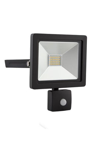 Eurolux Led Floodlight 20W With Sensor Black
