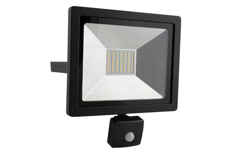 Eurolux Led Floodlight 30W With Sensor Black