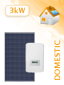 12 X JA Solar 275W Poly 5BB / Solis 3.0kW Grid Tie Package