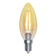 LED Full Glass Candle Filament Rustic Lamp 230V 4W E27 Gold 2800K