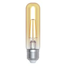 LED Full Glass Long Tubular Filament Rustic Lamp 230V 4W E27 Gold 2800K