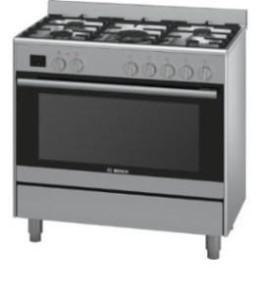 Bosch Serie 6 90CM Freestanding Gas / Electric Cooker Double Fan
