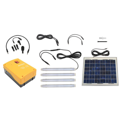 Eurolux 10W Solar Powered Kit with Cell Phone Charger