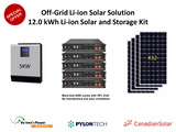 12.0 kWh PylonTech Off-Grid Li-ion Solar Solution Package