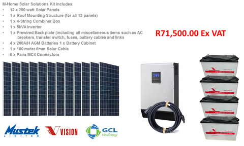 M-Home 5 KVA Solar Solutions Complete Kit