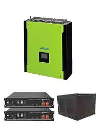 Mecer 5kW Hybrid / Pylon 4.8kWh Package Including Cabinet