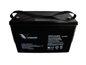 Vision Deep Cycle 100Ah 12V Fully Sealed AGM Technology 6FM100P-X
