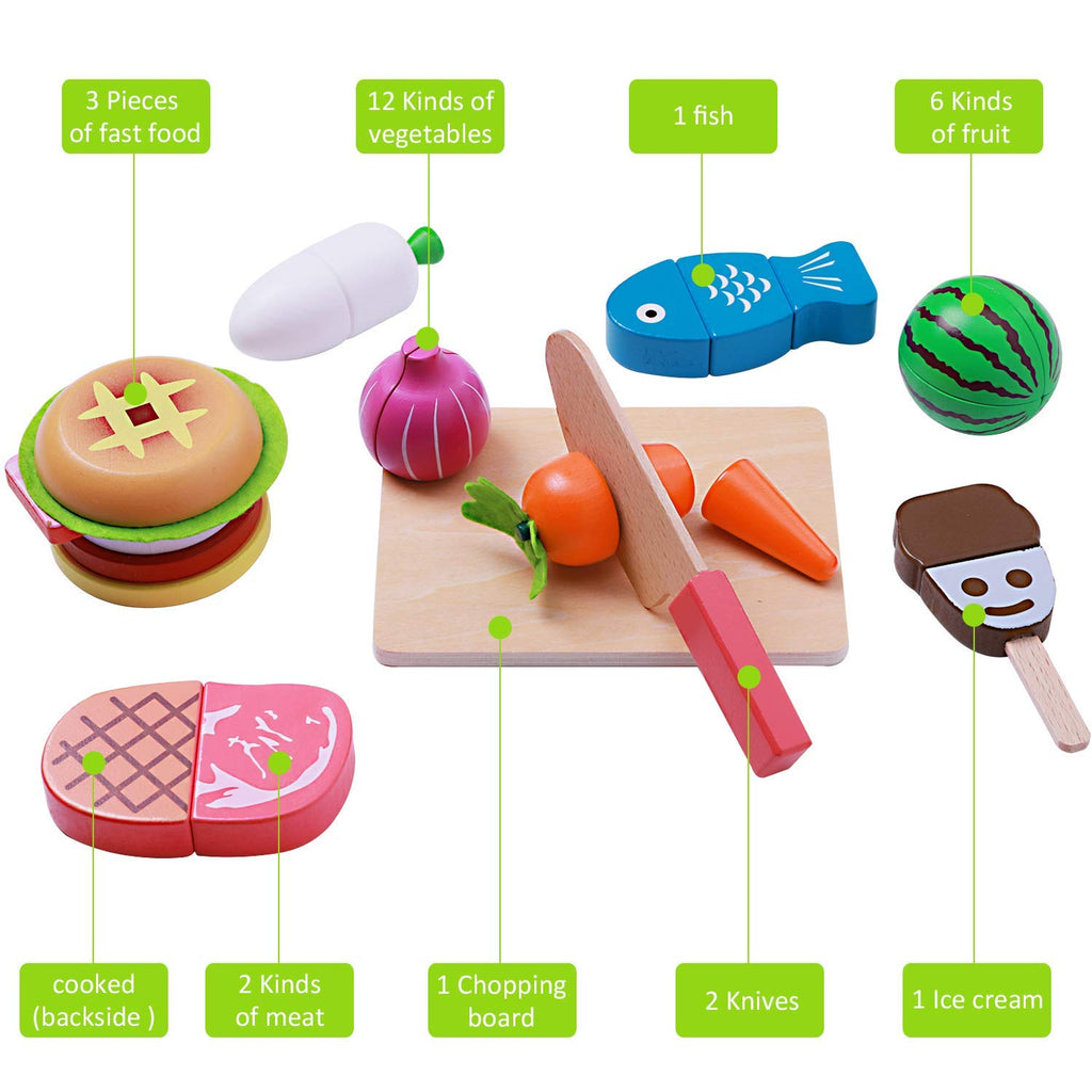 Admirable Iplay Ilearn Cutting Cooking Toy Pretend Play Kitchen Download Free Architecture Designs Jebrpmadebymaigaardcom