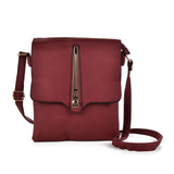 VK5267 Red - Metal Lock Decoration Cross Body Bag