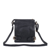 VK5346 Black - Messenger Bag With Zip Front Detail