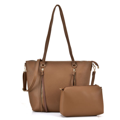 VK5460 Beige - Dual-Use Set Bags With Zippers Design