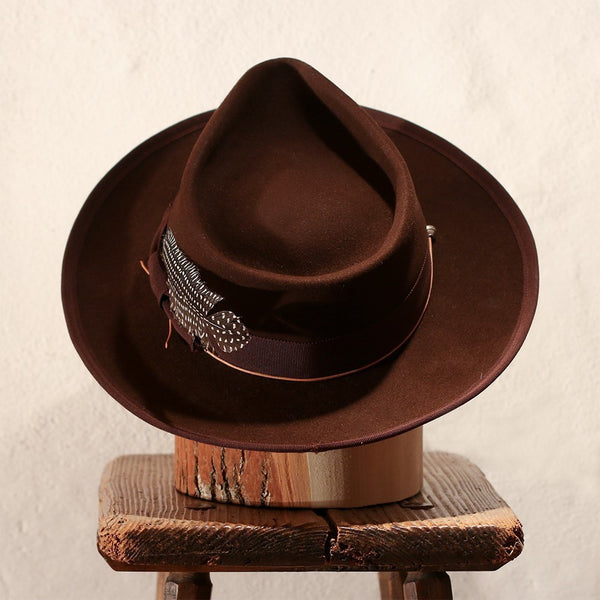 RANGER – BROWN TEAR DROP FEDORA