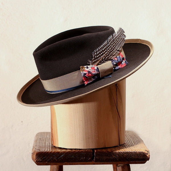 SAN GIULIANO – BLACK TEAR DROP FEDORA
