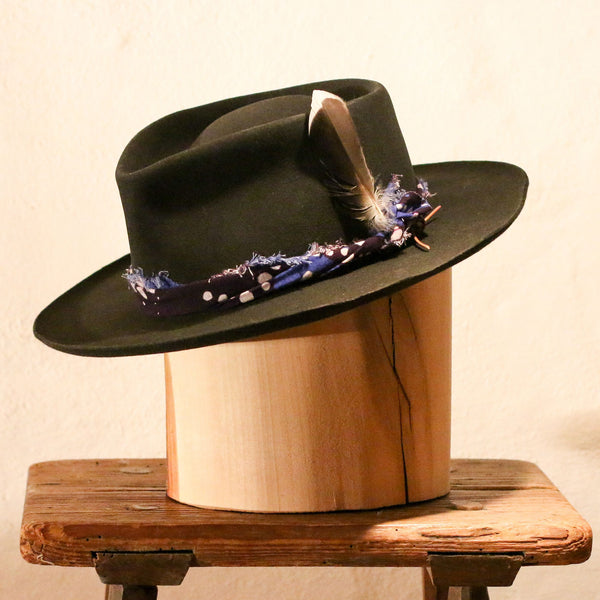 GERONIMO – DISTRESSED TEAR DROP FEDORA