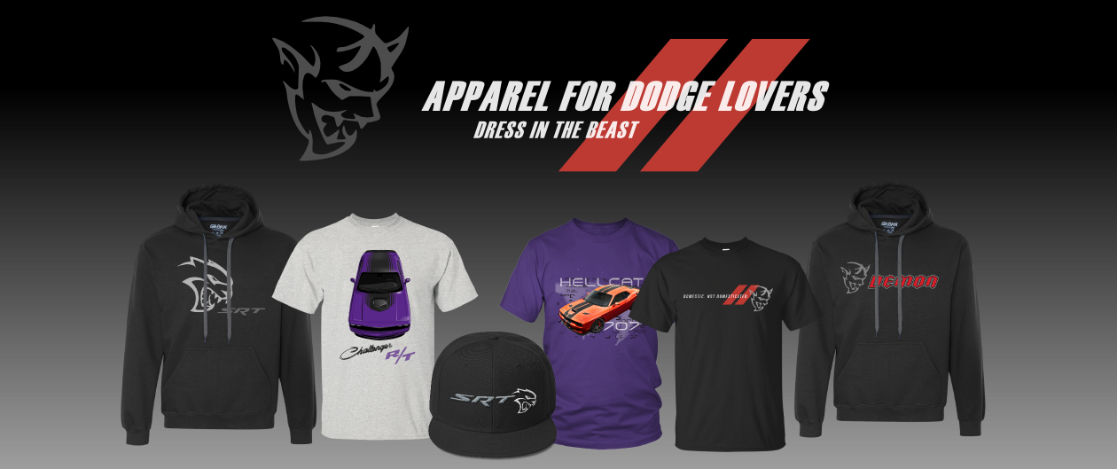 Dodge Apparel Collection T-Shirt Hoodie Snapback