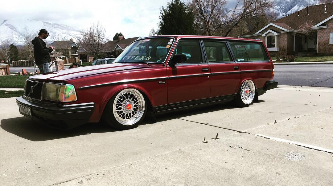 Volvo 240 Estate Ruby Red Stanced CarsEnth Canvas T-Shirt Art