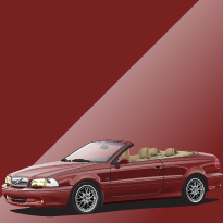 Volvo C70 428 Coral Red