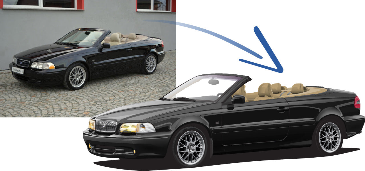 Volvo C70 Cabrio ph.I black sapphire metallic Cars Enth Canvas T-Shirt Art