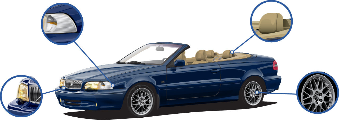 Volvo C70 Cabrio ph.I nautic blue Cars Enth Canvas T-Shirt Art