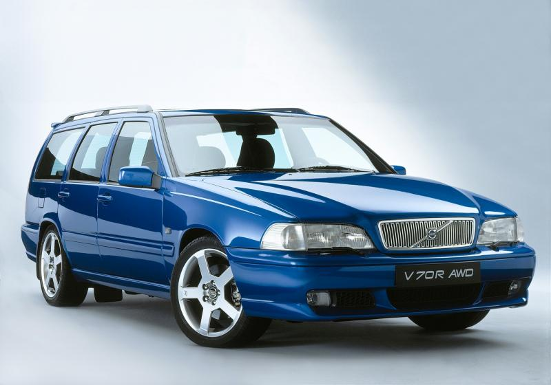 Volvo V70R AWD Laser Blue Cars Enth Canvas T-Shirt Art