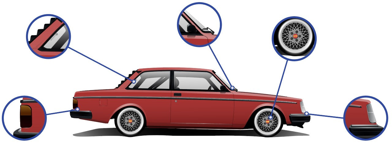 Volvo 240 Coupe Cars Enth Canvas Art
