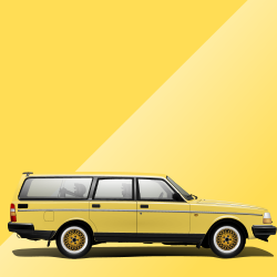 Volvo 240 97 Yellow