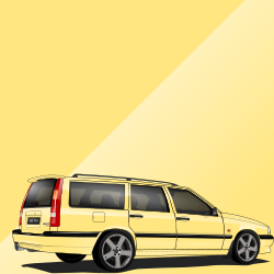 Volvo 850 607 Cream Yellow