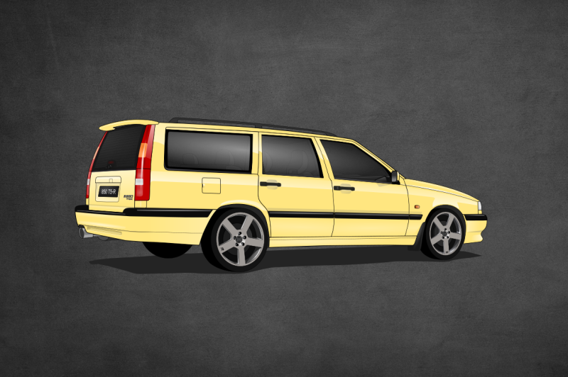 Volvo 850 CarsEnth Canvas Art Background 3