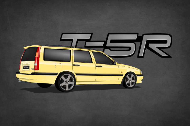 Volvo 850 CarsEnth Canvas Art Background 4