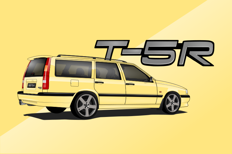Volvo 850 CarsEnth Canvas Art Background 5