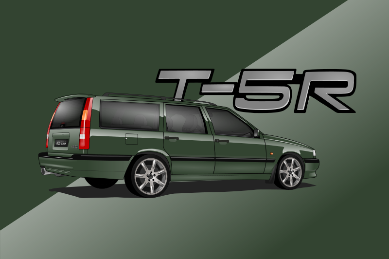 Volvo 850 CarsEnth Canvas Art Background 6