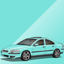 Volvo S60R 457 Flash Green