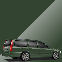 Volvo V70 R ph.I 421 Emerald Green