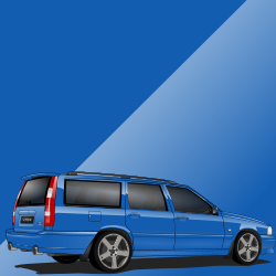 Volvo V70 R ph.I 441 Laser Blue