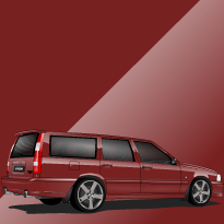 Volvo V70 R ph.I 445 Venetian Red