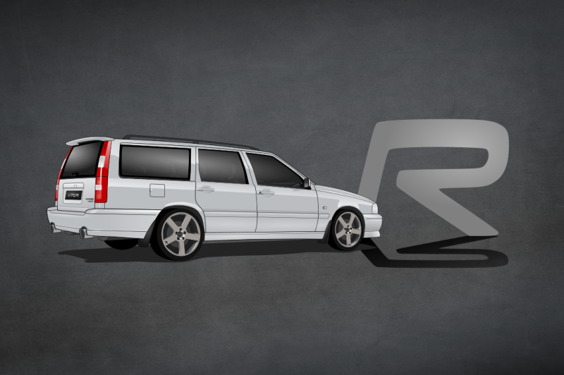 Volvo V70 ph.I CarsEnth Canvas Art Background 1