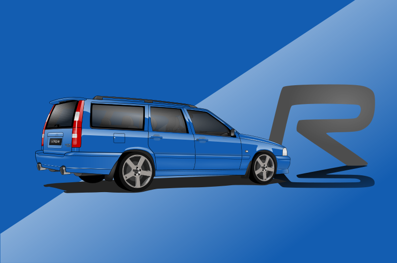 Volvo V70 ph.I CarsEnth Canvas Art Background 2