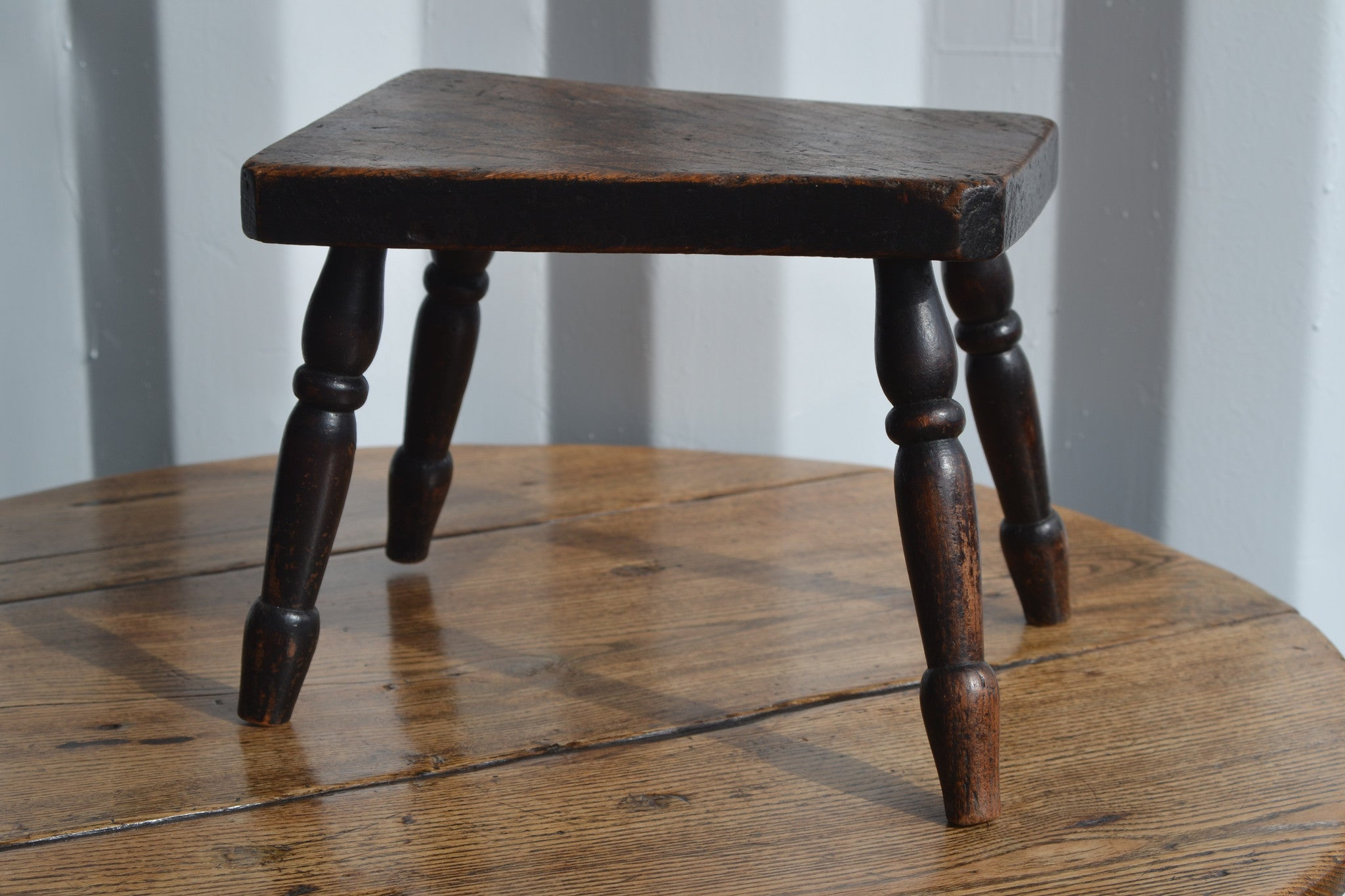 Mid 19th century large elm & ash stool