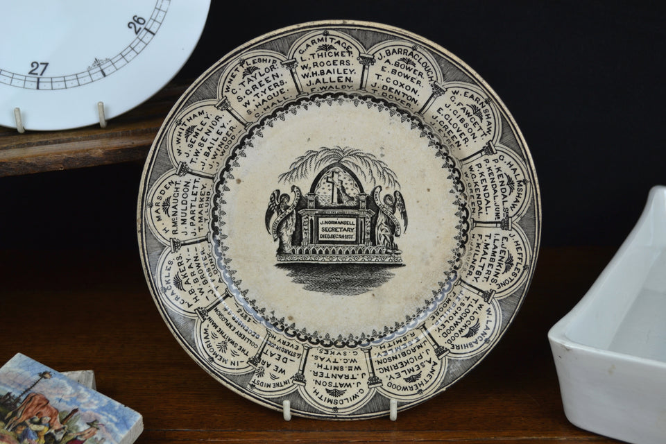 Victorian Swaithe Colliery Explosion Memoriam Plate