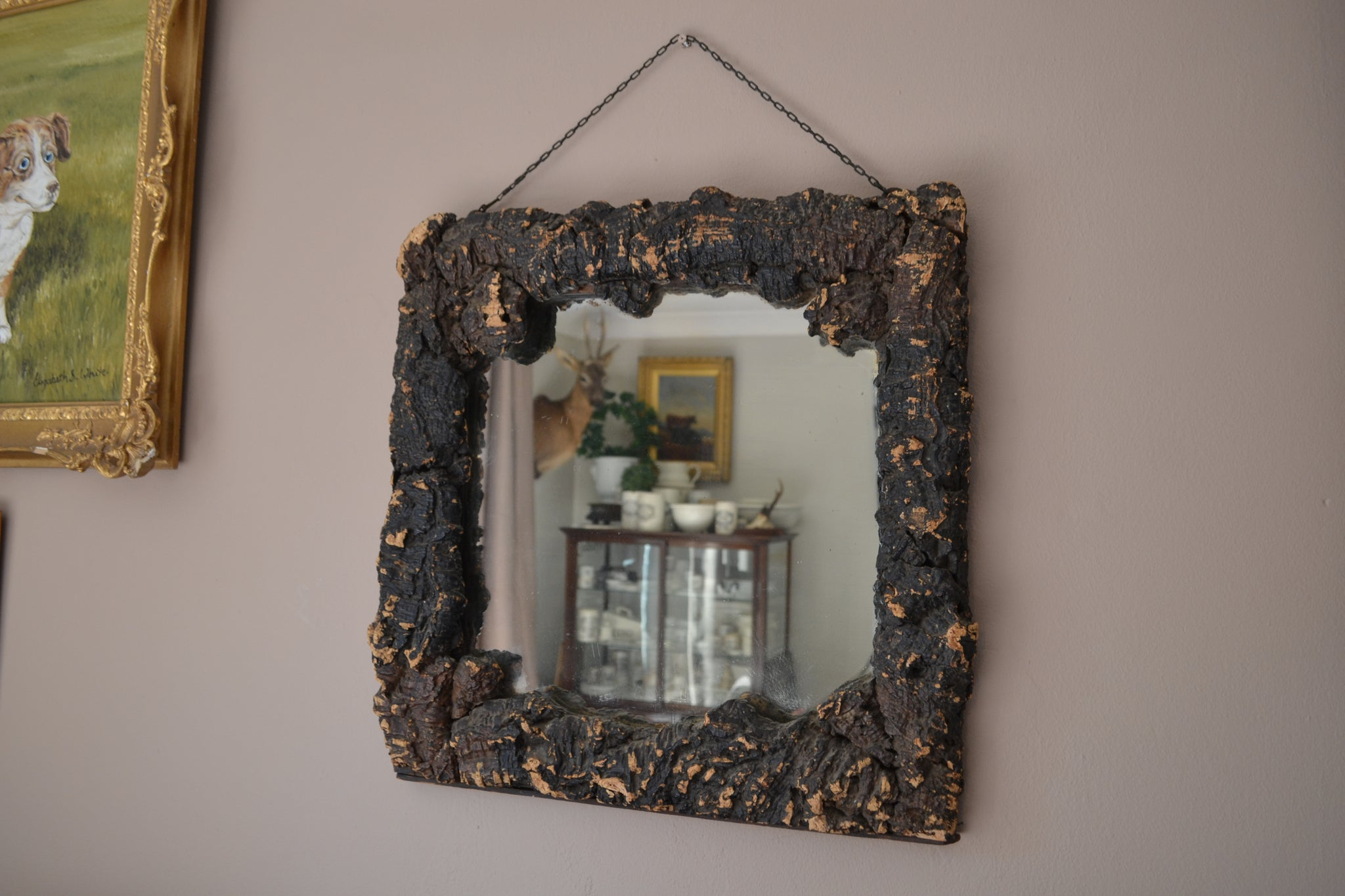 Sold - Antique Brice, Palmer & Co wood effect wall mirror