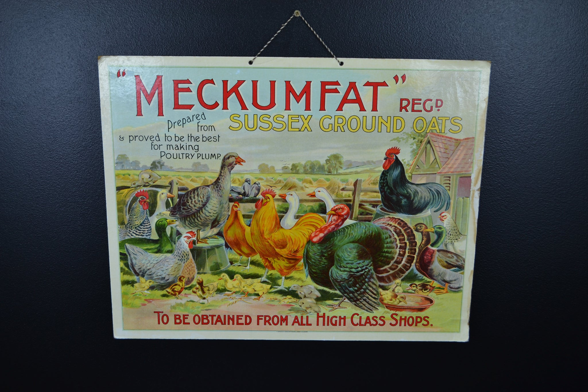 Meckumfat poultry feed showcard