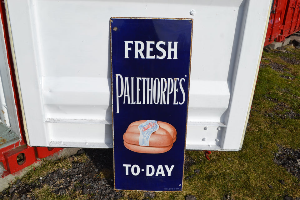 A Palethorpes sausages enamel sign