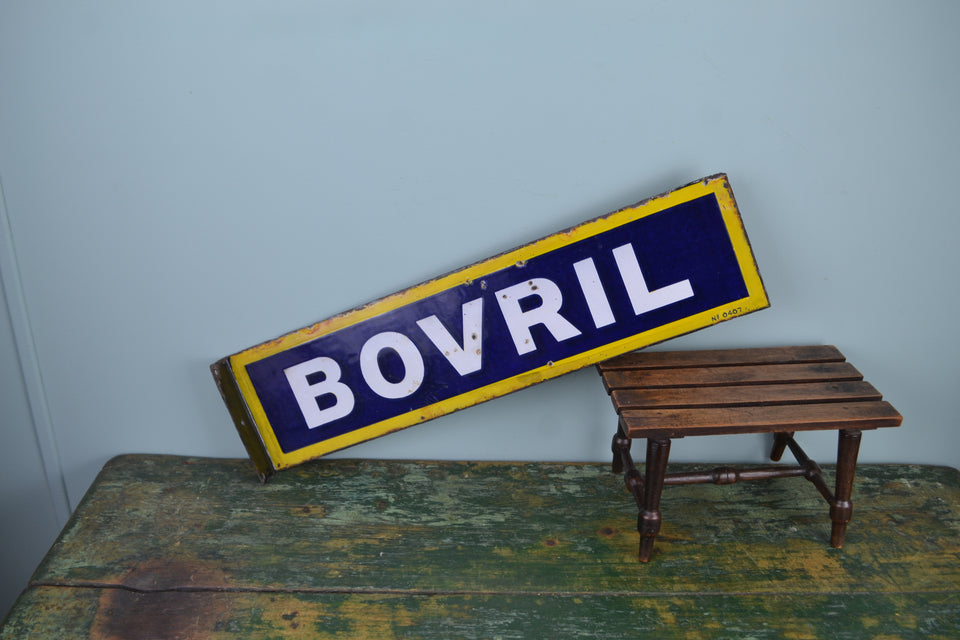 Double sided Bovril enamel sign