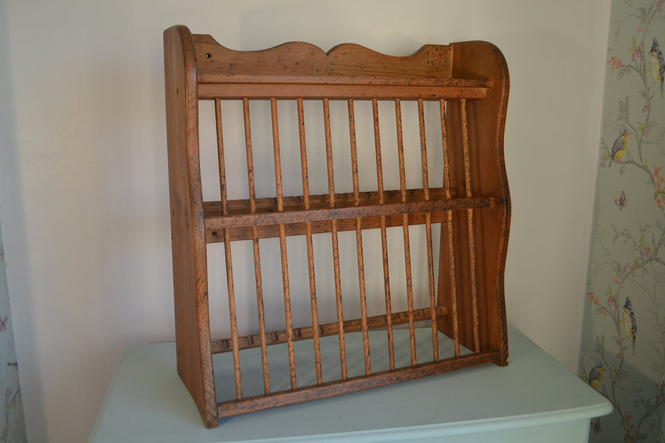 A Rustic Pine Plate Rack