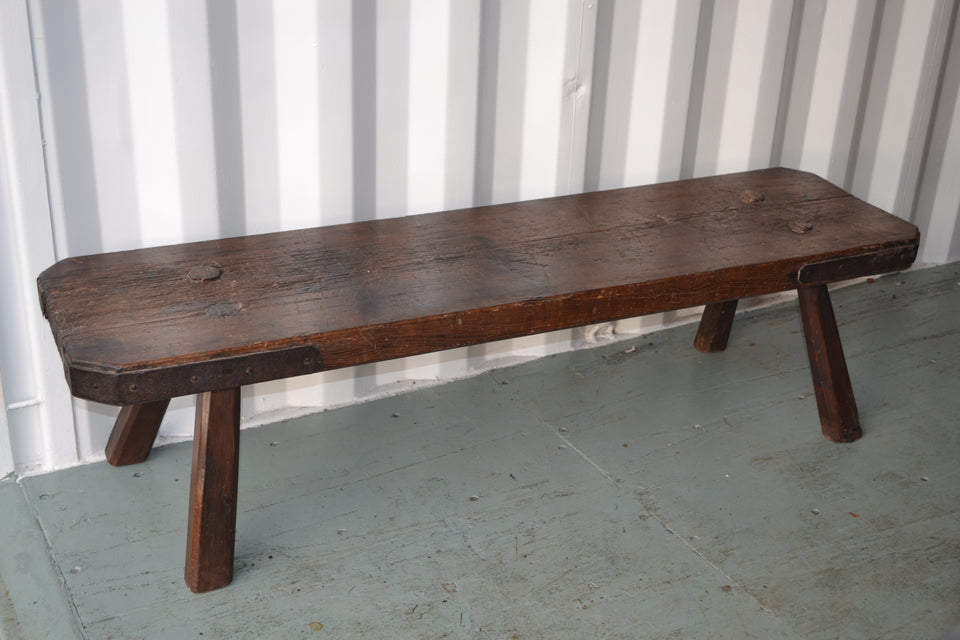 A Large Georgian Pig Bench
