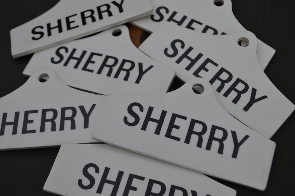 Sherry Cellar labels - £35.00 each