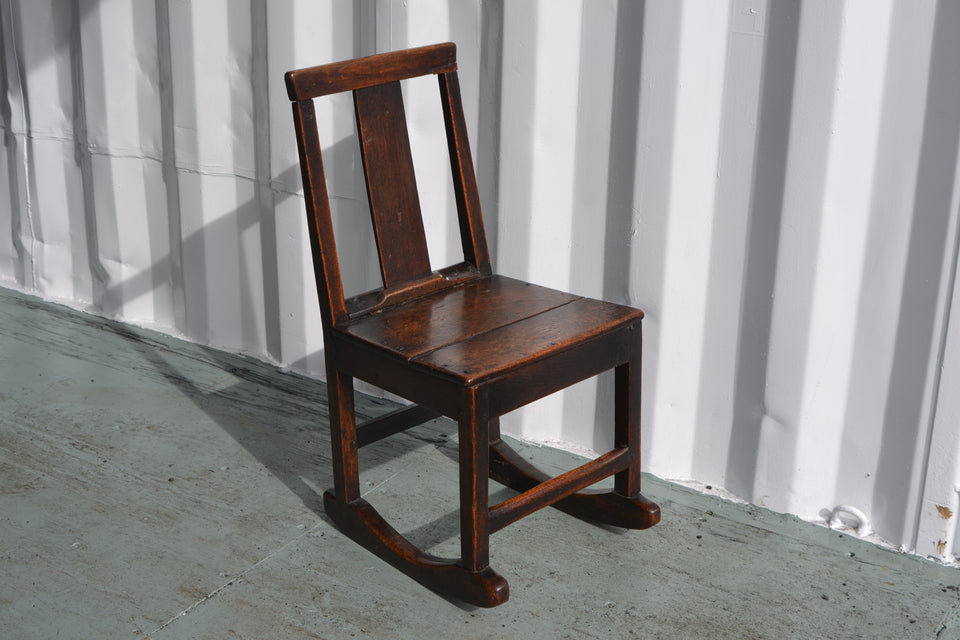 Early Georgian Welsh oak rocking chair