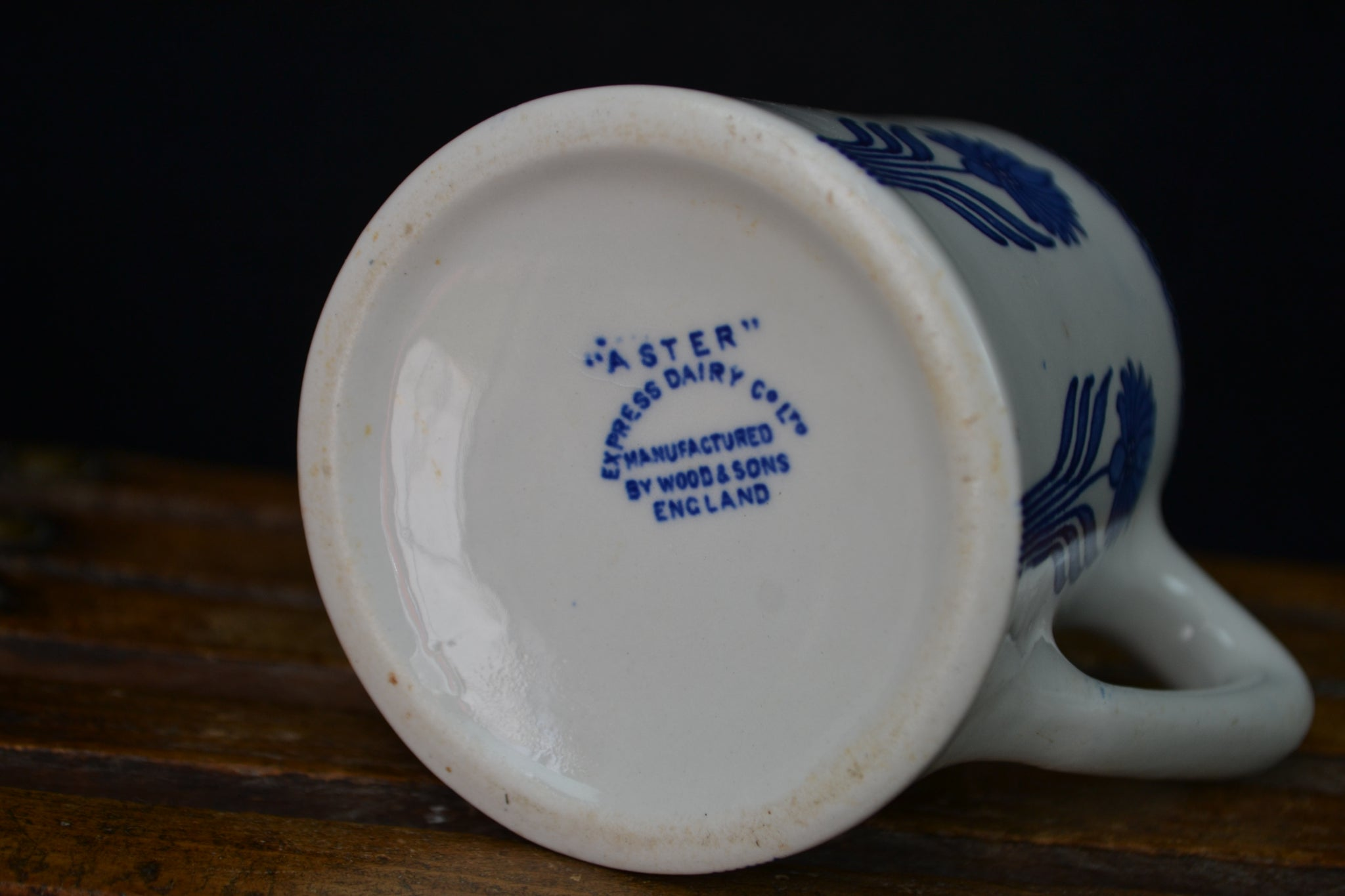 Aster Pattern cream jug for the 'Express Dairy Co Ltd.'